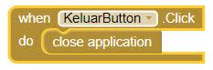 Membuat Tombol Exit Sederhana di MIT App Investor 2 (AI2)