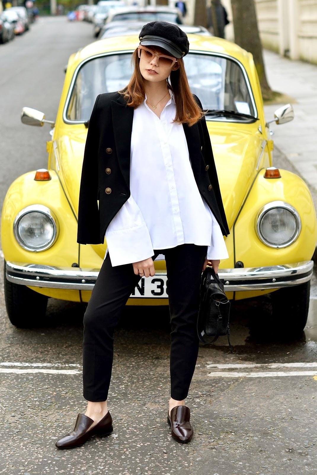 londyn | biala koszula | minimalistyczna stylizacja