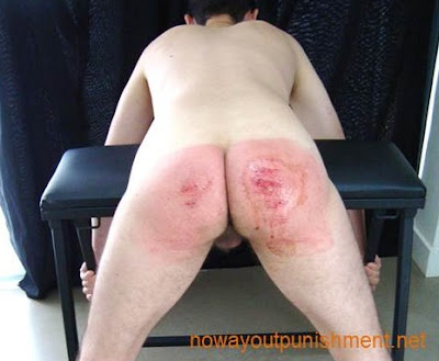 Jacob takes a hard spanking with the cane for No Way Out Punishment