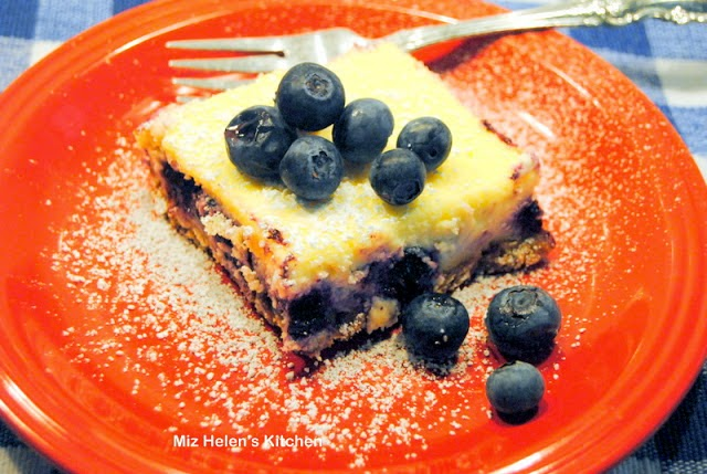 Creamy Blueberry Bars At Miz Helen's Country Cottage