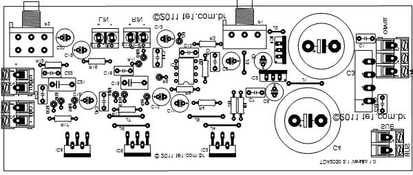 circuit diagram of home theater 6m fishbone template i m yahica intex 2 1 transformer tr ansformer pcb ponent side optional