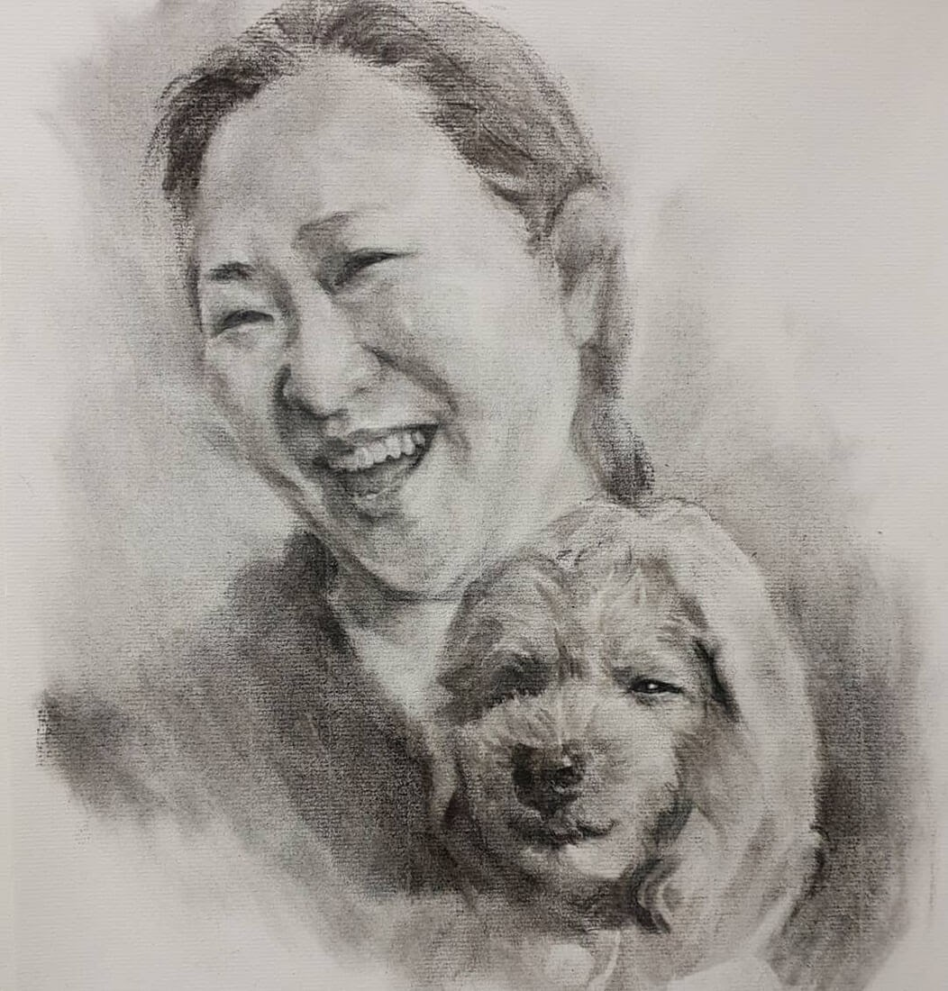 02-Jori-Charcoal-Portraits-of-Young-and-Old-plus-a-Clown-www-designstack-co