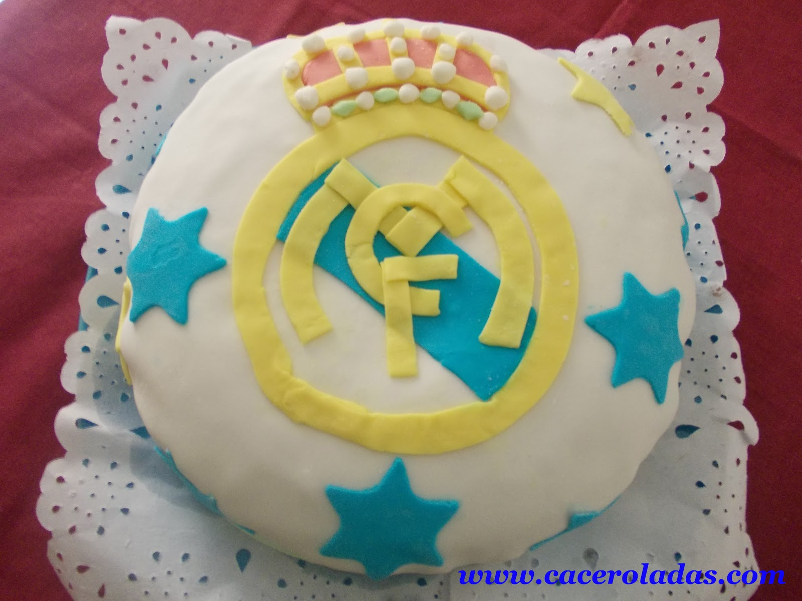 Tarta Real Madrid de fondant
