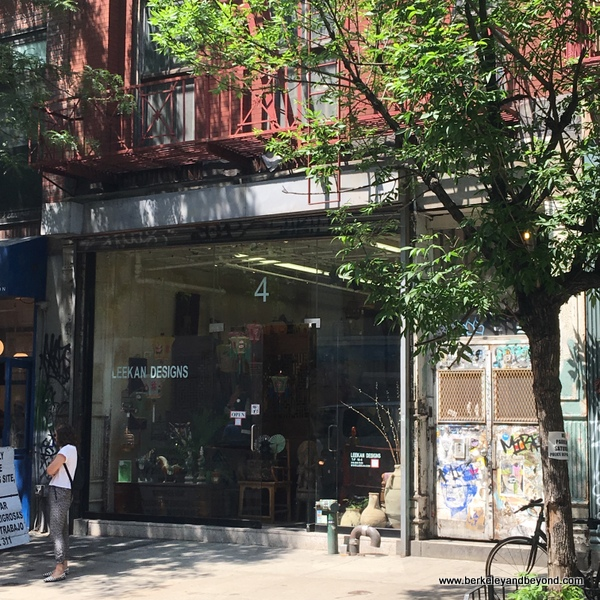 Leekan Designs on Rivington Street in NYC's Lower East Side
