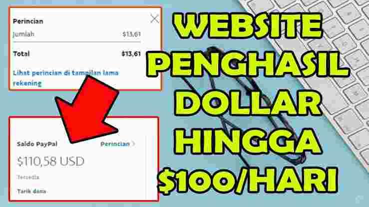 Web Penghasil Dollar Paypal Tercepat 2021