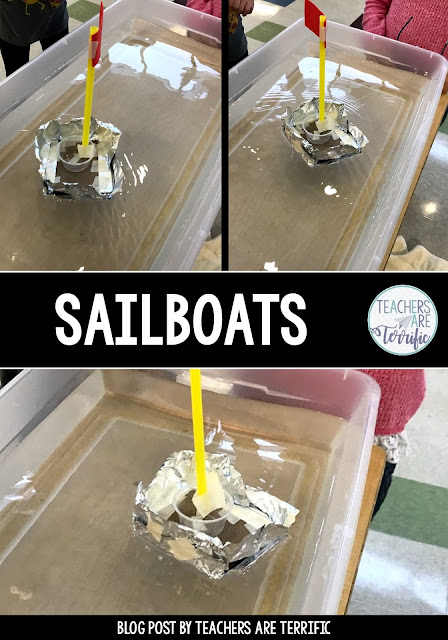 STEM Challenge: Build a sailboat that will float and travel with the wind!