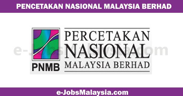 Pencetakan Nasional Malaysia Berhad PNMB