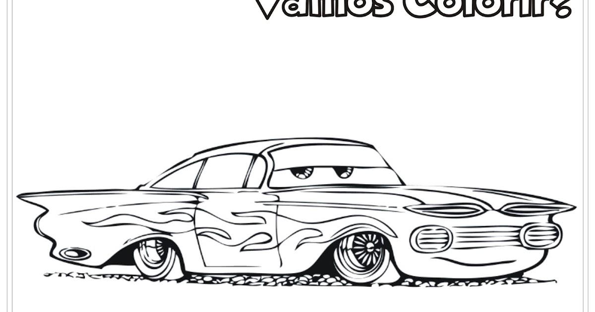 Desenho Carros Da Disney Ramone Para Colorir