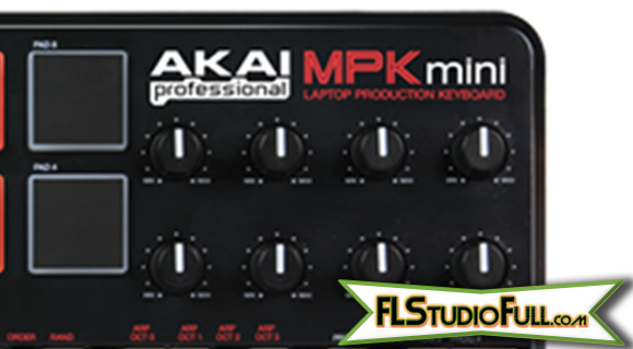 Akai MPK Mini - Review - Detalhe Knobs