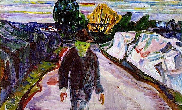 Edvard Munch 'The Murderer' 1910 large