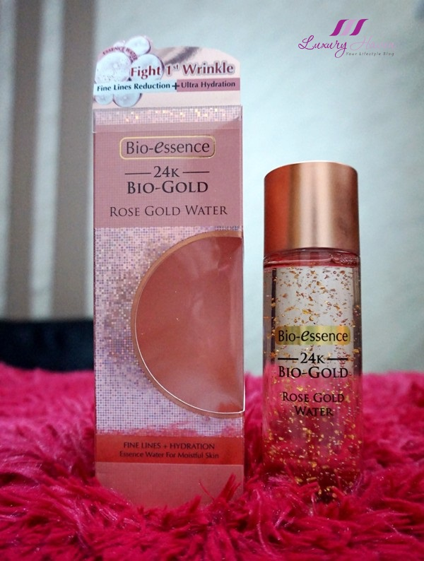 bio essence 24k rose gold water review