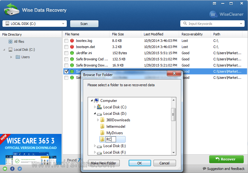 wise data recovery download terbaru setup