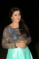 Nikki Galrani in Green Skirt  Top at Marakathamani music launch ~  Exclusive (131).JPG