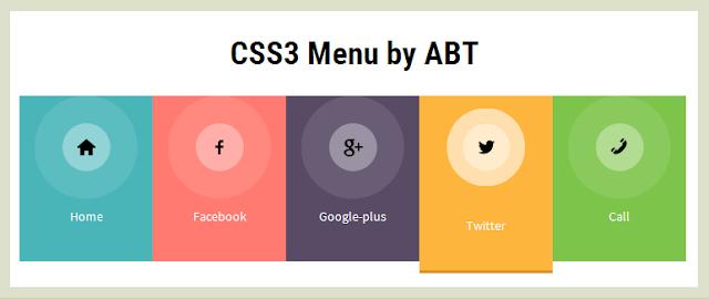 Flat CSS3 Menu
