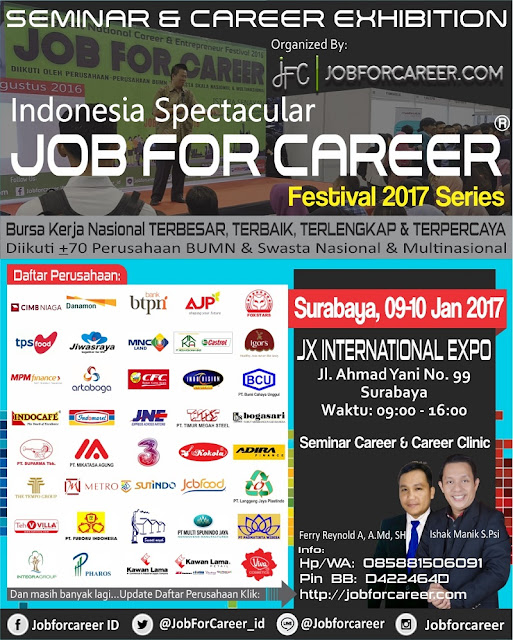 JOB Fair Festival Surabaya JX International Expo 2017