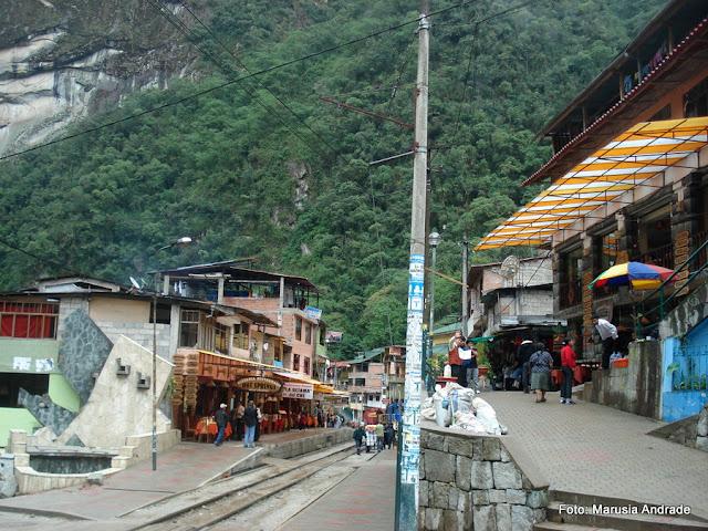 Águas Calientes, Peru - chegada do trem para Machu Picchu