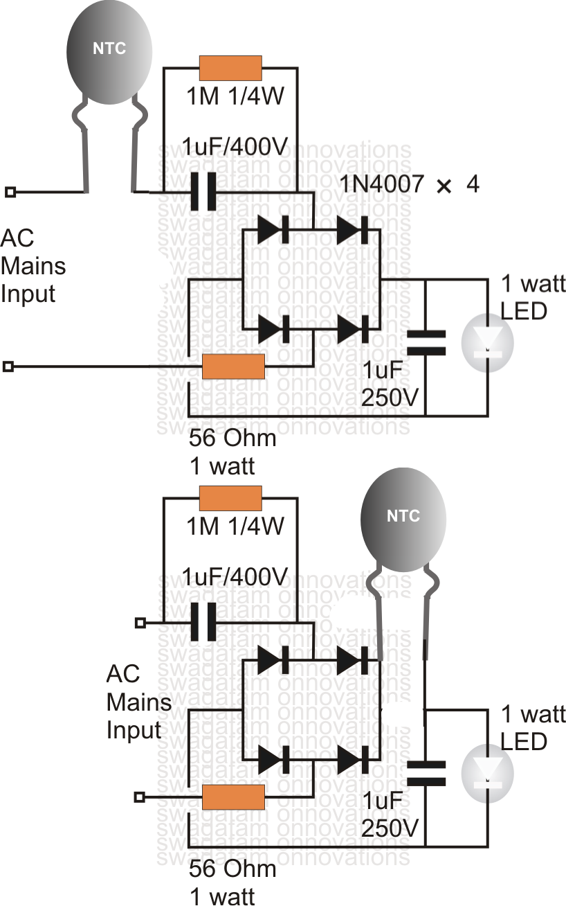 Using Ntc Resistor As Surge Suppressor on one s circuit schematic