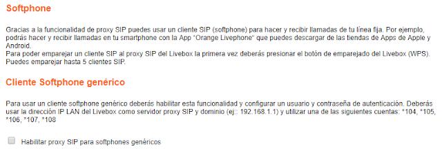 Administración Router: Softphone
