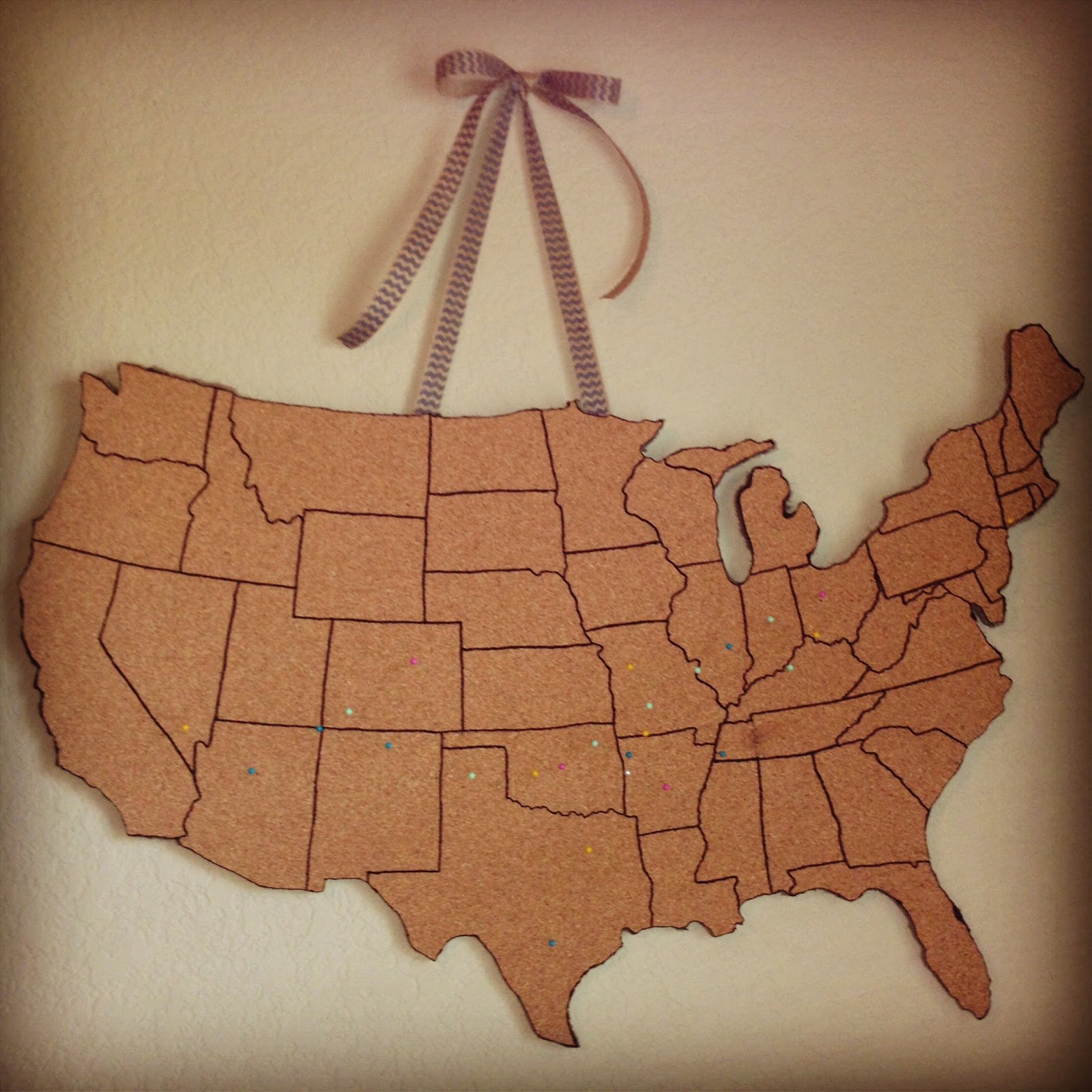 Karen's Pirate Life: DIY Corkboard Map Tutorial