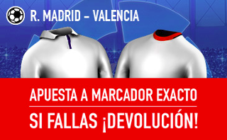 sportium promocion Real Madrid vs Valencia 29 abril