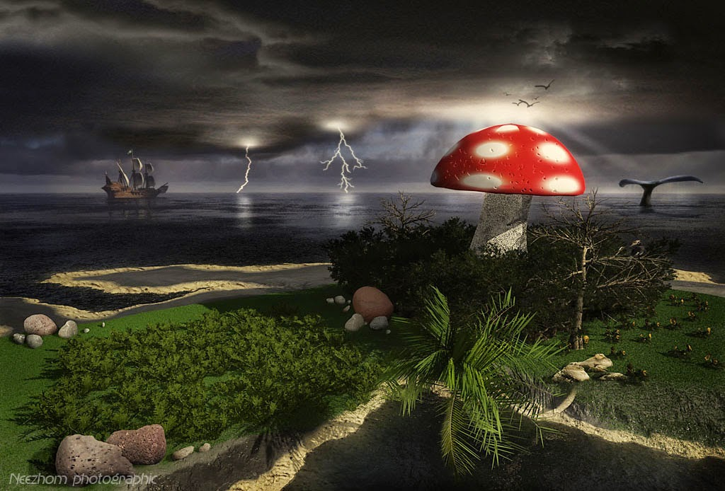 Jungledible in the fantasea 3d graphic landscape picture