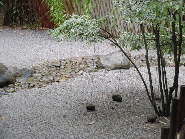 Japanese Garden, suchy ogród japoński, suchy strumień