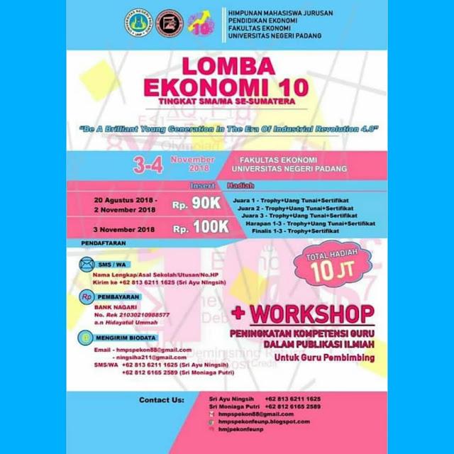 Lomba Ekonomi 10 SMA Sederajat Se-Sumatera