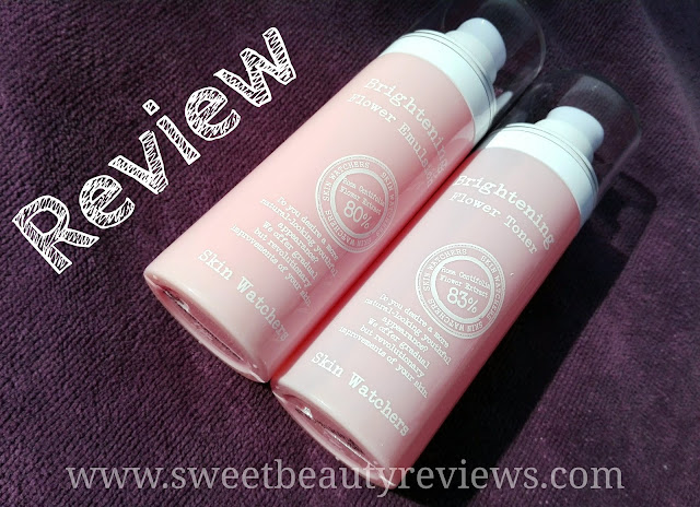 Review Skin Watchers Brightening Flower Toner and Emulsion
