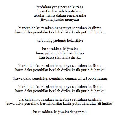 Lirik Lagu Andien Kasih Putih