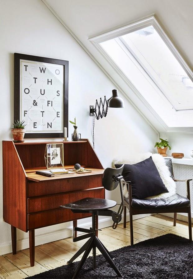 design attractor rustic and retro danish apartment. Black Bedroom Furniture Sets. Home Design Ideas