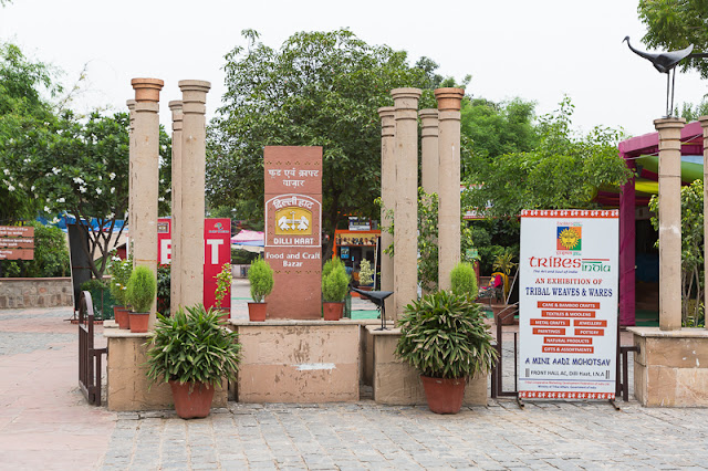 Shopping in Dilli Haat Delhi India