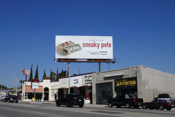 Sneaky Pete season 2 billboard