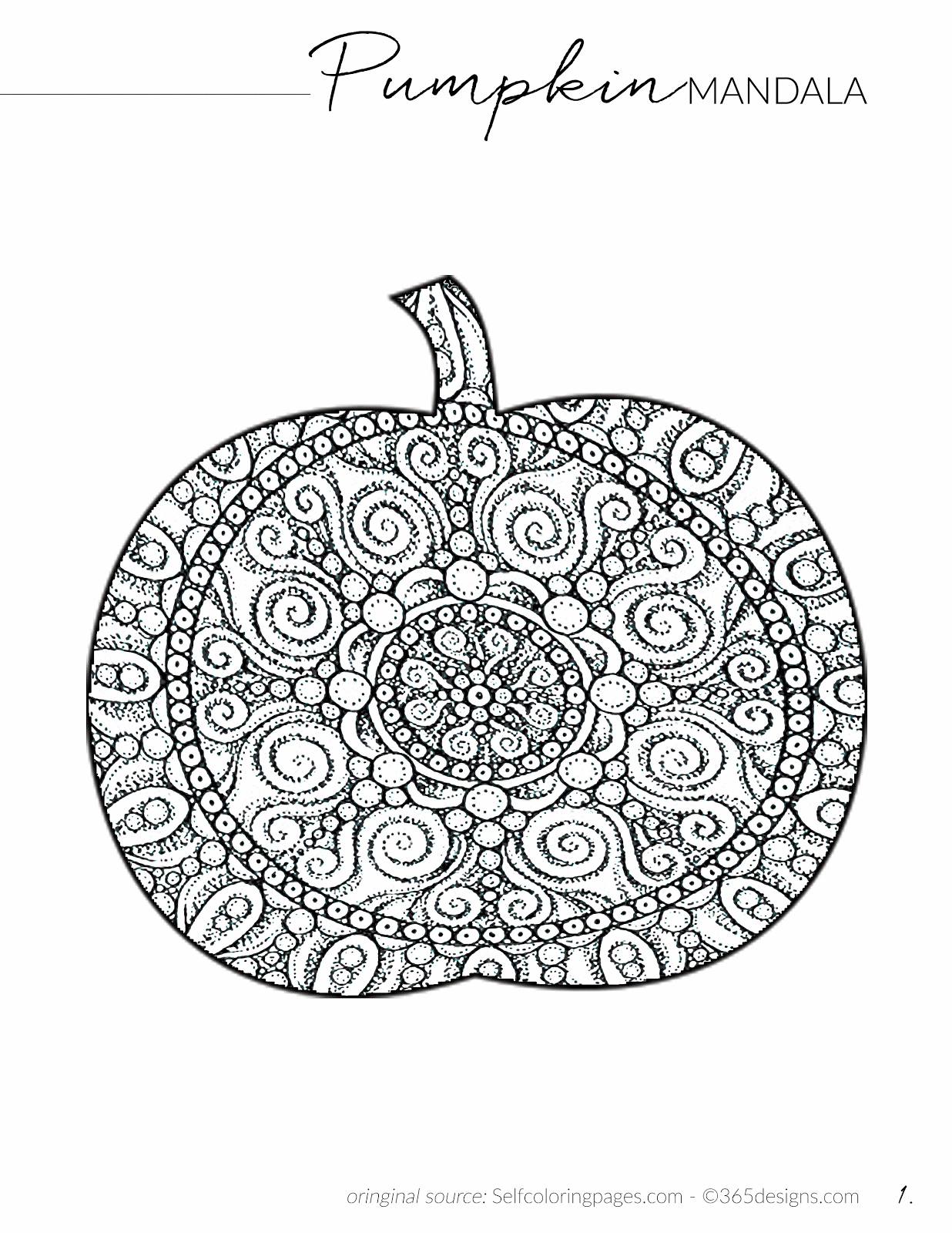 halloween pumpkin adult coloring free printable