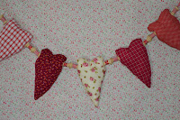 Cream Floral & Heart Bunting