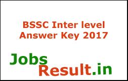 BSSC Inter level Answer Key 2017