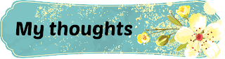 My thoughts banner