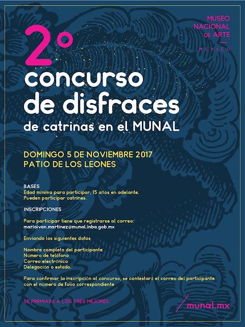 Segundo Concurso de Drisfraces de Catrinas en el Museo Nacional de Arte