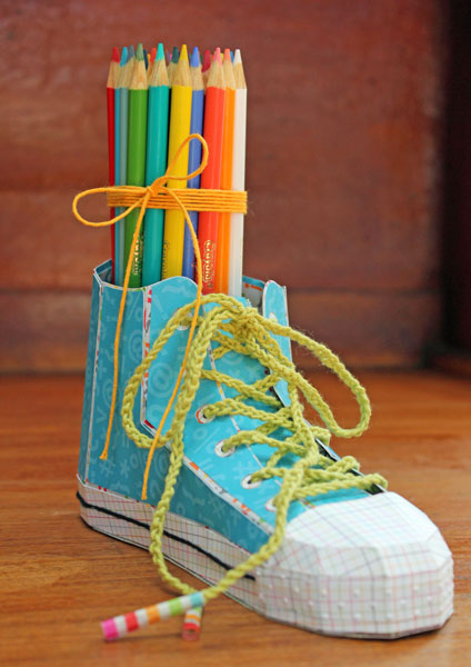 High-Top Sneaker Pencil Holder | The Twinery