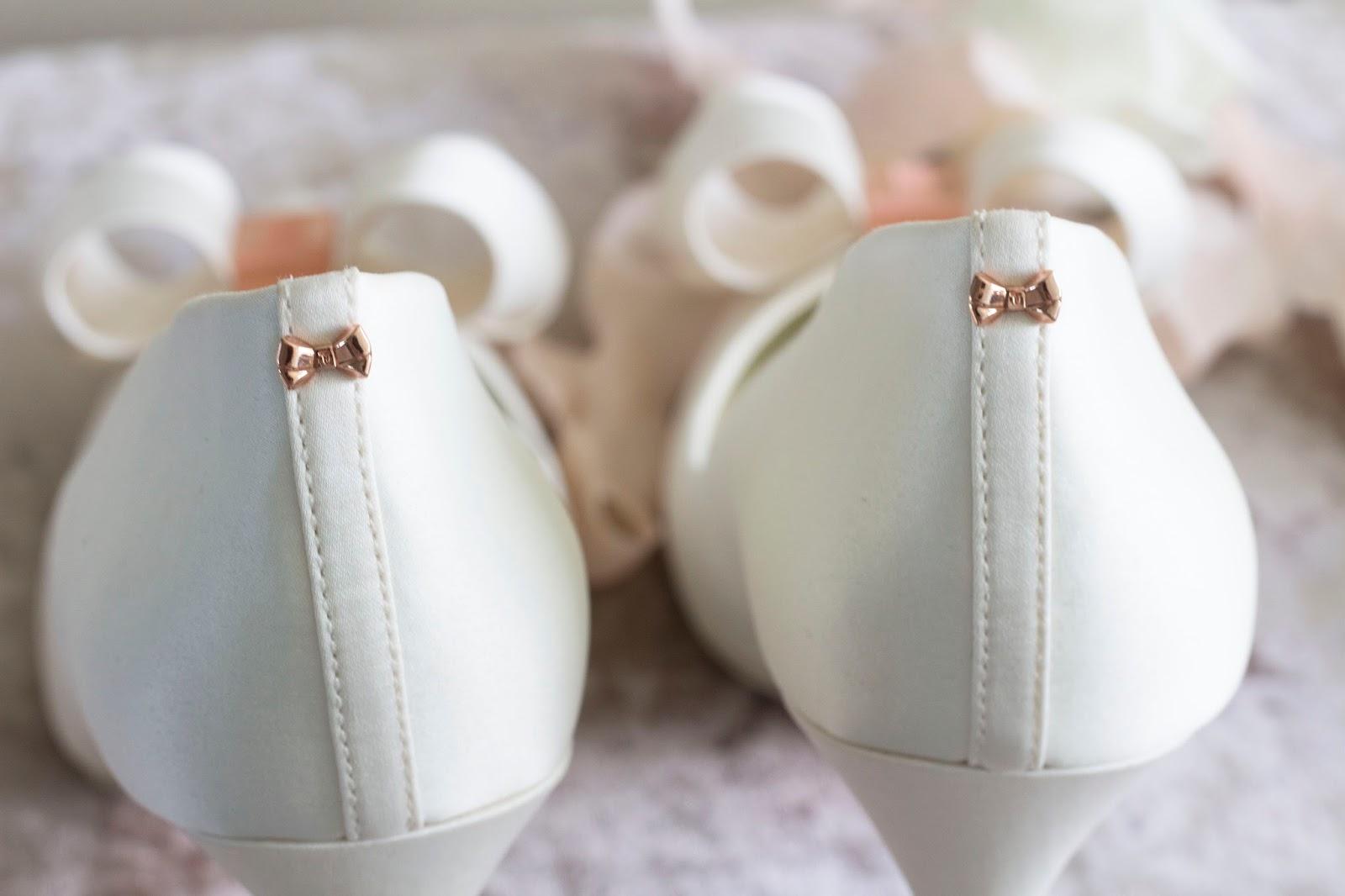 Details on ted baker wedding shoes