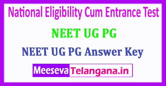 NEET Answer Key 2018 National Eligibility Cum Entrance Test 2018 Answer Key Download