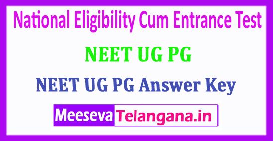 NEET Answer Key 2018 National Eligibility Cum Entrance Test 2018 Answer Key Download