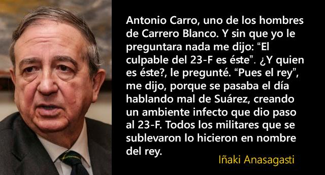 """Iñaki Anasagasti: """"El culpable del 23-F... es el rey"""""""