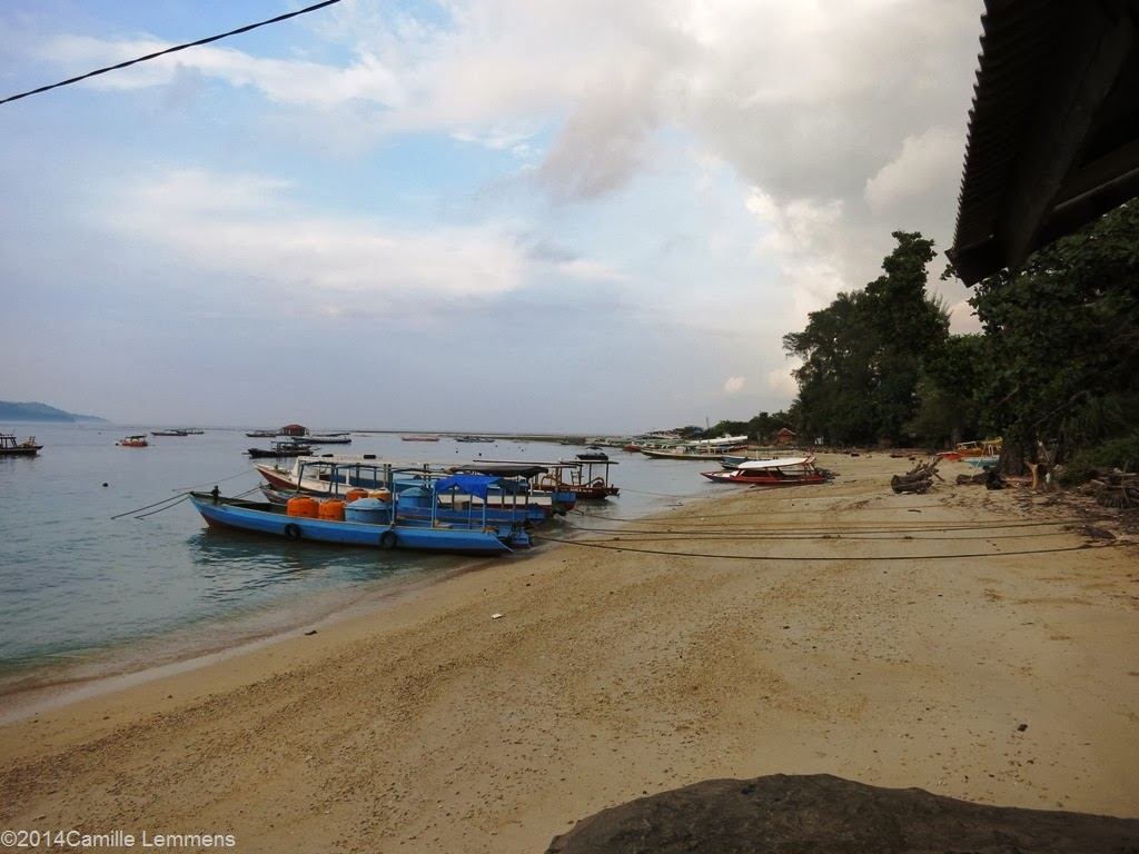 Harbor on Gili Air in Indonesia