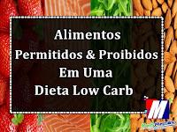Alimentos permitidos proibidos em uma dieta low carb