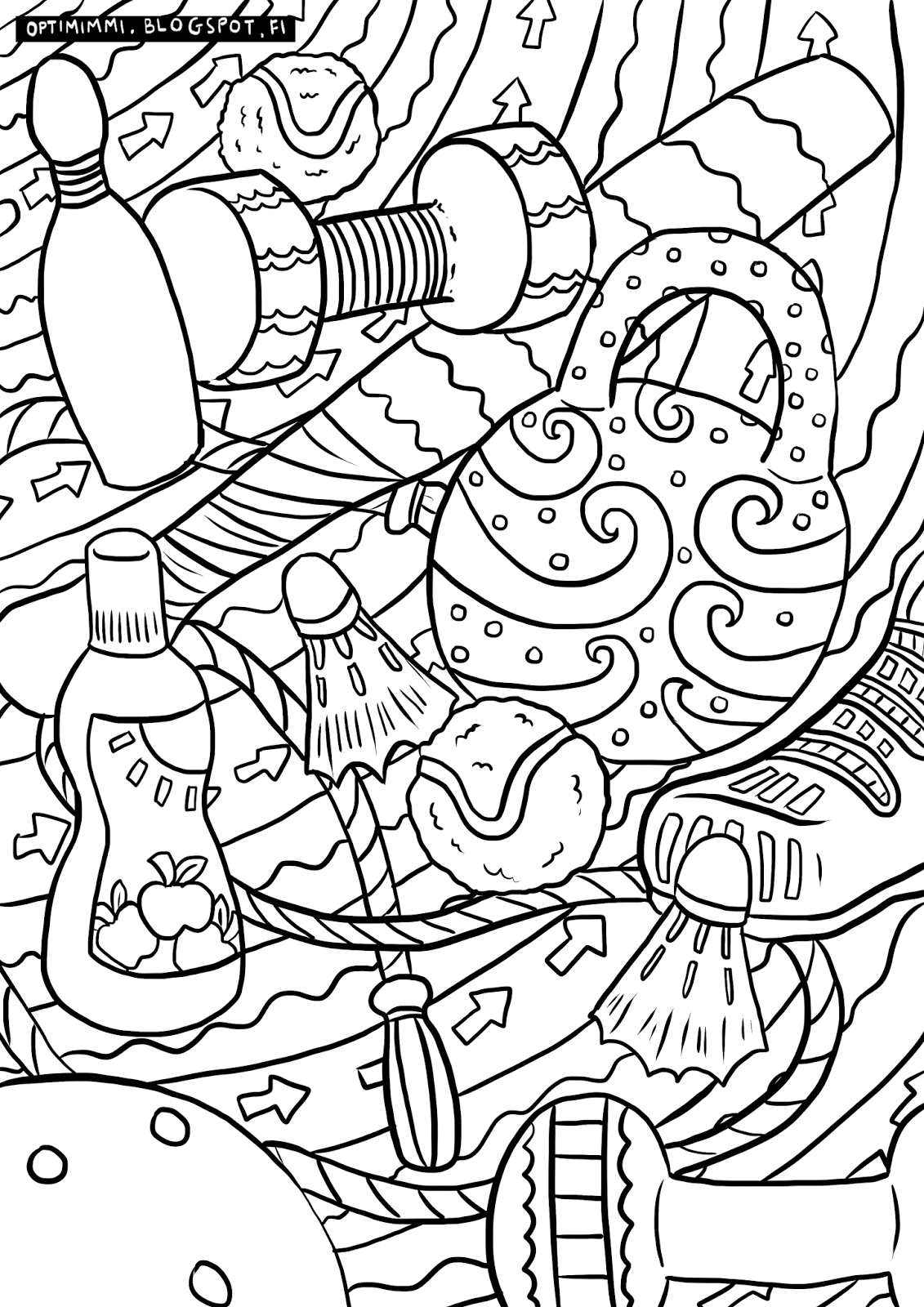 Coloring book varityskuvat - A Coloring Page About Sports V Rityskuva Urheilusta