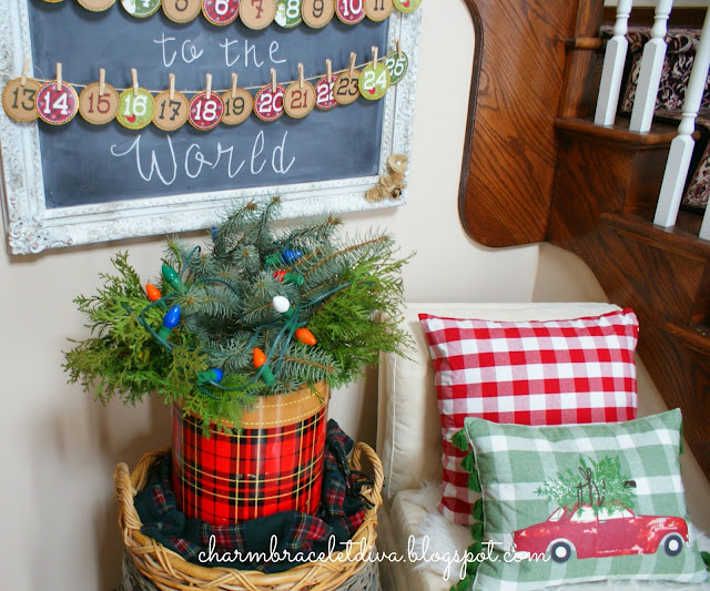 DIY Advent Calendar banner chalkboard