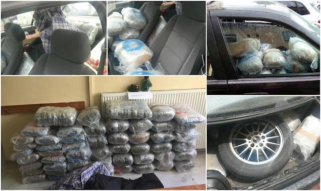Συνελήφθη 26χρονος ημεδαπός με 120 κιλά κάνναβης και 1,2 κιλά χασισέλαιο (+ΦΩΤΟ)