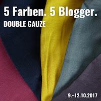5 Farben. 5 Blogger. Blogtour – Double Gauze (Weinrot. Marine. Senfgelb. Blaugrün. Anthrazit.)