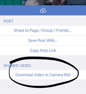 Menyimpan video facebook ke aplikasi photos iphone