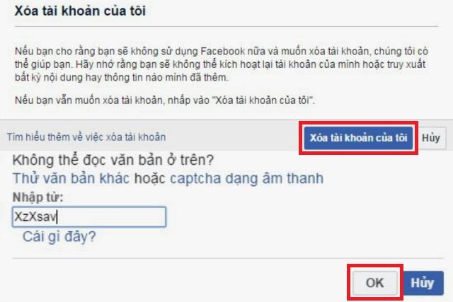 khóa facebook vĩnh viễn 2